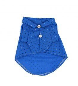 Camisa azul con diseño de circulos