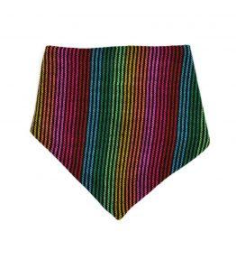 Bandana con líneas multicolor