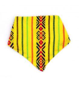 Bandana estilo artesanal color amarillo