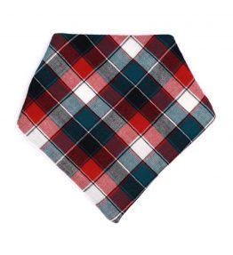 Bandana estilo escocés color verde con rojo
