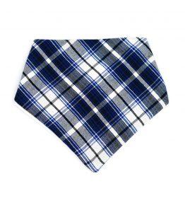 Bandana estilo escocés color azul