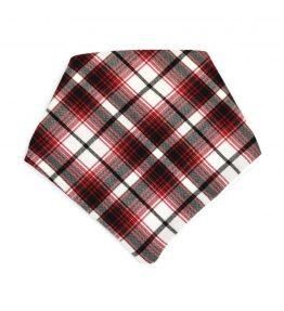 Bandana estilo escocés color rojo